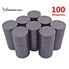 "1"" ROUND MAGNETS ARE IDEALLY SIZED FOR MANY PROJECTS. They are the best size for bottle cap craft - no glueing necessary as they fit perfectly, and they make super refrigerator magnets as they are smooth and flat. These high strength ferrite magnets ..."