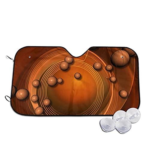 Parasol Parabrisas Coche, Parasol Plegable para la Ventana Delantera del Coche, fácil de Usar / almacenar, Mantiene Frescos los Interiores del Coche (Baloncesto Whirlpool)-70×130 cm
