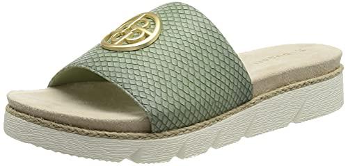bugatti Damen 431673905800 Sandale, Light Green/Reptile Print, 40 EU