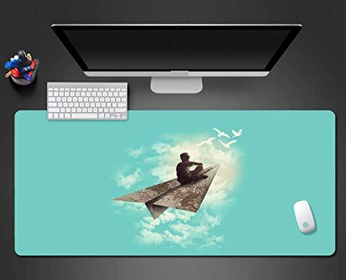 Papieren vliegtuig muis pads spel spelers spel muismat grote muis pad modus anti-slip Durablenon-Fading Pad groot formaat 900 * 400 * 3mm
