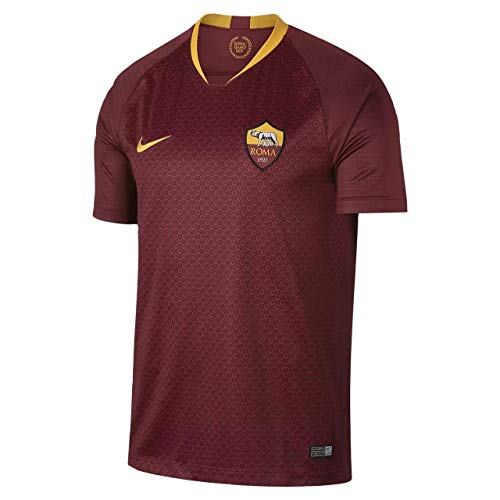 Nike 2018/19 Mens AS Roma Home Stadium Replica Jersey Small Maroon/Gold