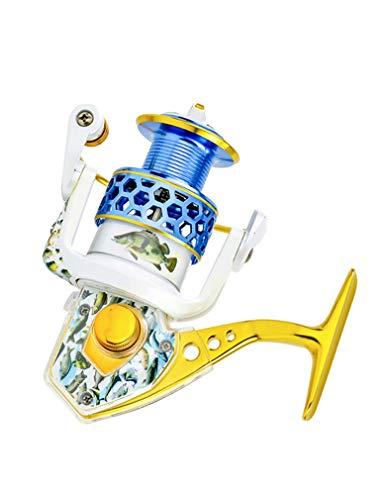 LLJPYX7L Carrete de Pesca con 15 rodamientos, Brazo oscilante Izquierdo/Derecho Intercambiable, Adecuado para Pesca en el mar, Pesca al Aire Libre, Carrete de Pesca Potente (Color : 1000)