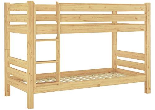 Teilbares Etagenbett Massivholz Kiefer 90x200 Rollrost Hohes Bett Stockbett 60.11-09 100