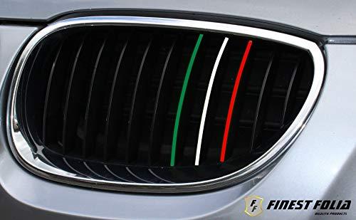 6-40 teiliges KFZ Aufkleber Set für Front und Kühlergrill -Finest Folia Folie Zierstreifen Streifen (K005 Italien)