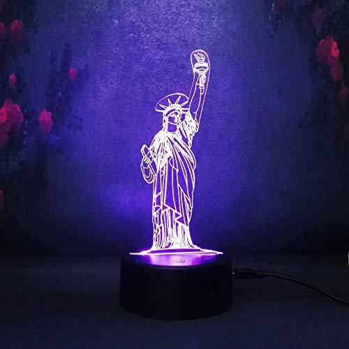 Luces Sinfónicas 3D, Luz De Noche Led, Nuestra Diosa De La Victoria De Nueva York, Decoración Del Dormitorio, Lámpara De Mesa, Regalo De Cumpleaños Para Niños, Lava