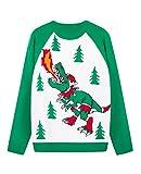 Weihnachtspullover Feuerspiender T-Rex Dinosaurier
