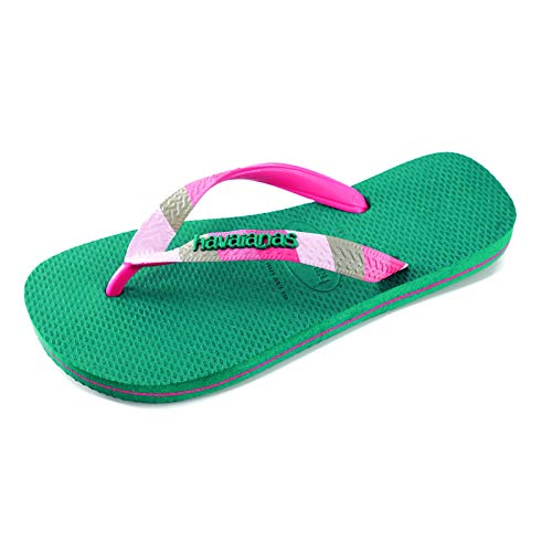 Havaianas Women's Top Verano Flip-Flop, Green Leaf, 9-10