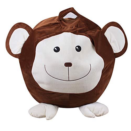 MKHDD Gefüllte Tier Lagerung Bean Bag Stuhl Bequeme Stoff AFFE, Schwein Oder Elefant Ersetzen Ihre Mesh Toy Hängematte Oder Net -Extra Speicher Decken Kissen Zu,B