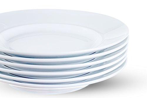 Urban Lifestyle Lot de 6 assiettes à pâtes en porcelaine et porcelaine Ø 26,5 cm Profondeur du bord extérieur 3,6 cm