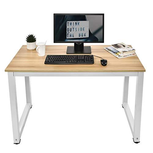 evergreemi 120 × 60 × 71 cm Escritorio, mesa de ordenador, mesa de trabajo, mesa moderna para oficina, mesa de comedor, estable estructura de metal multifuncional, para el hogar y la oficina