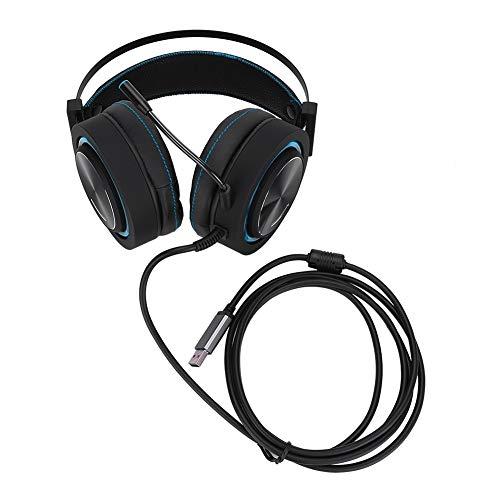 Gamingheadset, professionele stereohoofdtelefoon met kleurrijke verlichting, speel met helder en HD-geluid stereogeluidshoofdtelefoon voor computers. (Blauw)