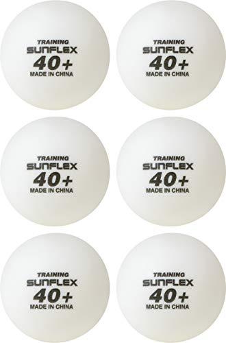 Sunflex Erwachsene Training 6 Stück Tischtennis-bälle, weiß, M