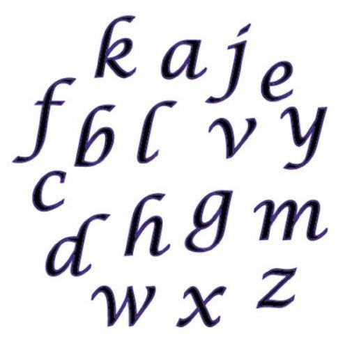 CK Products FMM Lower Case Script Alphabet Tappit Cutter Set - 1/2'
