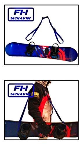 Cinta Porta Esqui/Snow. Porta esquí, Porta ski. Cinta para Transporte de Equipo de Nieve, Casco, Tabla Snow, esquí. 100% Poliester. Talla Adaptable 1,20 a 2,20cm. Hombre, Mujer y niño. Manos Libres.