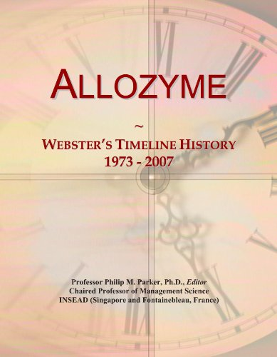 Allozyme: Webster's Timeline History, 1973 - 2007