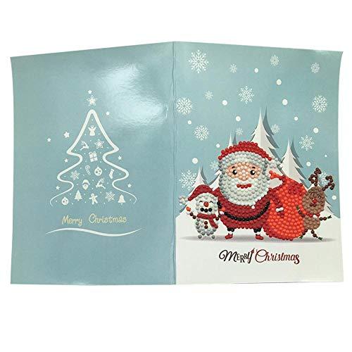 iShine DIY 5D Diamant Peinture Carte De Voeux De Noël Artisanat Carte De Noël