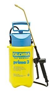 Gloria Prima 3, pulverizador de presión de 3 litros de Capacidad con Boquilla de Cono Hueco de latón Regulable