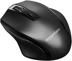 Compact wireless mouse with adjustable DPI for preferred sensitivity (600, 1000, 1600, 2400, or 3600 DPI) Advanced optical sensor; works on most surfaces; clickable metallic scroll wheel; back/forward thumb buttons for easily navigating web pages 2.4...