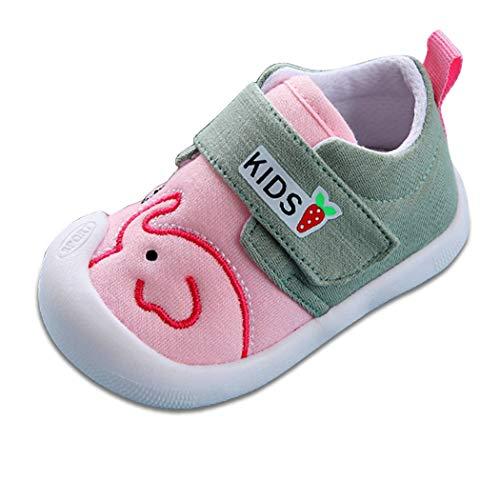 [くもにせ] ベビー シューズ 靴 ファーストシューズ 幼児 柔らかく快適 軽量 滑り止め 歩行練習 男の子 女の子 ピンク 11.5 cm