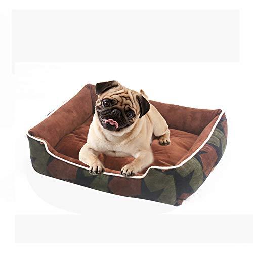 Orthopedisch hondenbed hondenmand rechthoekig met uitneembare kingmat, hondenkussen, hondensofa met waterdichte en anti-slip bodem voor kleine, middelgrote en grote honden Medium C