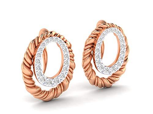 VVS 0.734 Ctw Diamante Natural Con 18K Blanco/Amarillo/Oro Rosa Pendientes Con IGI Certificado