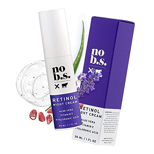 No B.S.Retinol Cream for Face with Hyaluronic Acid, Vitamin E & Pomegranate Extract, Retinol Night Cream for Spot Treatment, Vegan Wrinkle Cream and Spots Corrector for Face - No B.S. Skin Care