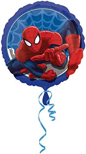 Ballonim® Spider Man rund ca. 45cm Luftballons Folienballon Party Dekoration Geburtstag