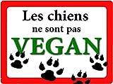 creosoleil Plaque Attention Chien Humour 15x20 Vegan Aluminium