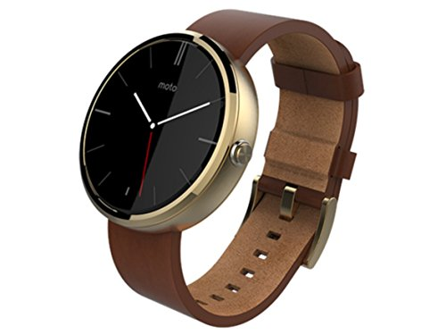 Motorola Moto 360 Smart Watch, Cognac Leather/Champagne