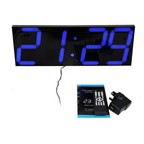 Greenwayyd - Reloj de Pared Digital con luz LED de 45 cm, función de cronómetro y función de repetición