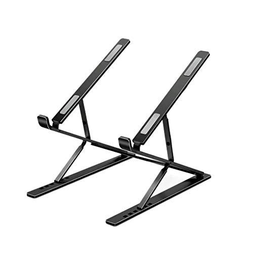 Mingtongli Plegable portátil Base para el hogar Oficina portátil Plegable del Ordenador portátil Holder Ajustable de aleación de Aluminio, Negro