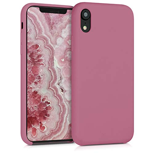 kwmobile TPU Silicone Case Compatible with Apple iPhone XR - Soft Flexible Rubber Protective Cover - Deep Rusty Rose