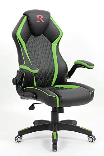 Vivol Gaming Stuhl Design - Schwarz Grün - PC Game Chair - Cooles Design - Gamer Stuhl mit Wippmechanik
