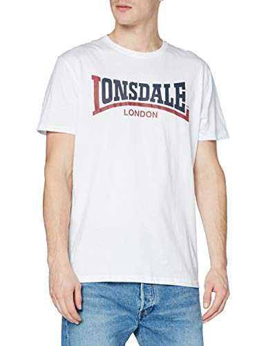 Lonsdale Two Tone T-Shirt, Uomo, Bianco, Small