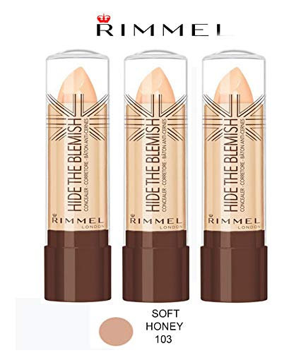 Kit 3 pz Rimmel Hide The Blemish Correcteur en stick 4,5 g 103 Soft Honey