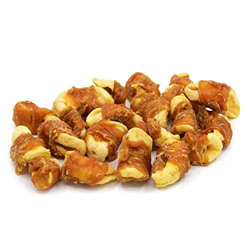 Jungle Calling Snacks Molar para Perros,Piscolabis Deliciouso para Limpiar los Dientes, Regalo después del Entrenamiento, Rodajas de Manzana Envueltas por Carne de Pollo