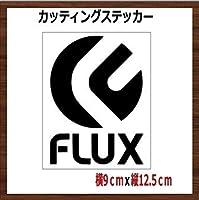 【④】フラックス FLUX カッティング ステッカー (黒)