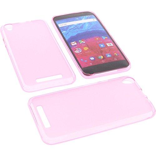foto-kontor Tasche für Archos Core 55 Gummi TPU Schutz Handytasche pink