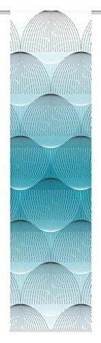 Home Fashion SCHIEBEVORHANG DEKOSTOFF Digitaldruck BENARI, Stoff, Petrol, 245 x 60 cm