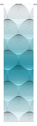 HOME FASHION Paneel Blind Digitale Print Decoratieve Stof/Weefsel, Polyester Benzine, 0.2 x 60 x 245 cm