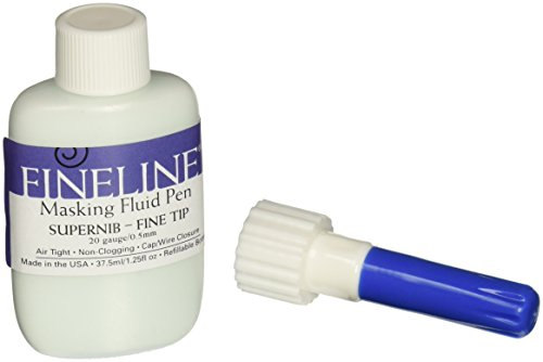 Fineline Masking Fluid Pen 20 Gauge W/Masking Fluid, 1.25 Ounces