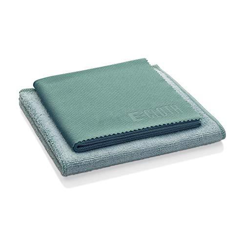 E-Cloth Set de nettoyage pour la cuisine, Microfibre, Bleu & Vert, Set de 2 pièces
