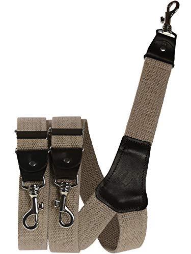 Harrys-Collection Herren extra starker Hosenträger mit Karabinerhaken, Farben:beige, Größen:120 cm