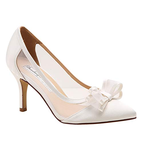 Duosheng & Elegant HC1909 Zapatos de Novia con Punta Puntiaguda para Mujer...