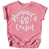 Promoted to Big Cousin T-Shirts for Toddler Girls Fun Family Outfits Mauve Shirt