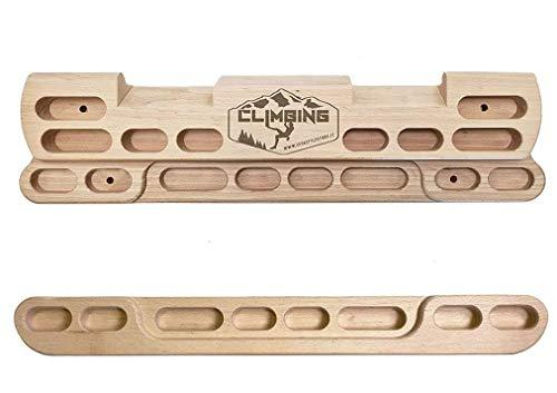 ZStyle Hangboard Travo per Trazioni Arrampicata Prese in Legno Sbarra Barra da Muro Parete Climbing Boulder Allenamento Indoor Training Board (Large)
