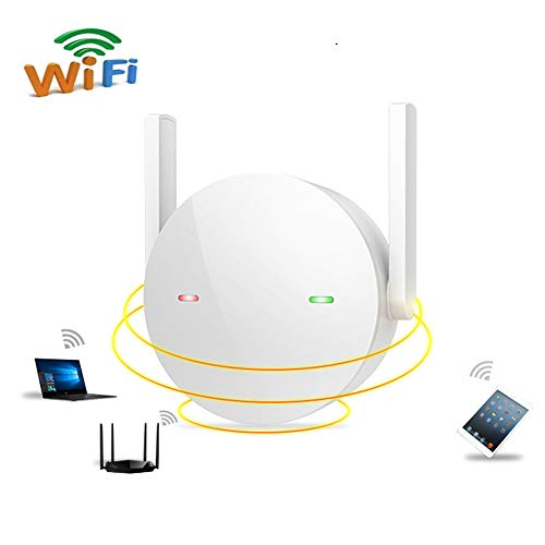 Amplificador Señal de WiFi, Repetidor WiFi, Luz De SeñAl Inteligente, Antena Dual Fácil de Configurar White