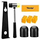 TOLESA Laminate Wood Flooring Installation Kit with 30 Spacers, Heavy Duty Pull Bar, Durable Rubber Tapping Block, Double-Faced Mallet, Foam Kneepads