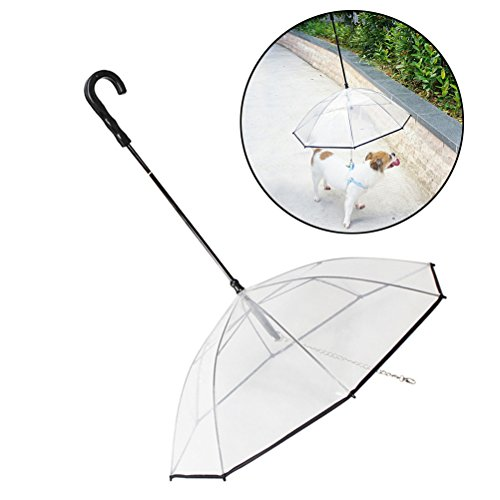 UEETEK Ombrello Pieghevole per con guinzaglio per Cuccioli Cani ed Animali Domestici