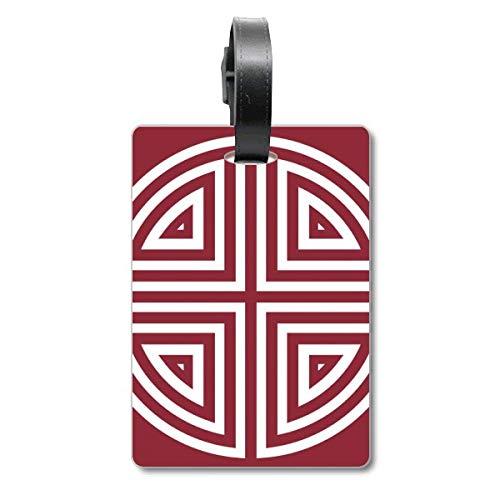 Etiqueta de identificación para Maleta China Tradicional de Cuatro símbolos